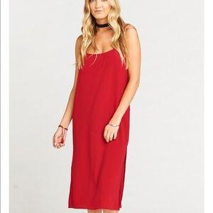 SHOW ME YOUR MUMU l Red Shiloh Slip Dress NWT